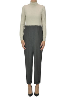 Wool-blend jumpsuit Semicouture