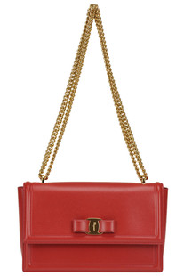Ginni Vara bow leather bag Salvatore Ferragamo