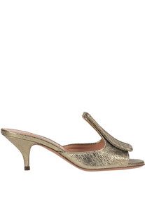 Crakle metallic effect leather mules L'Autre Chose