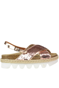 Sequined sandals Colors of California