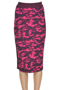 Camouflage print pencil skirt Pinko