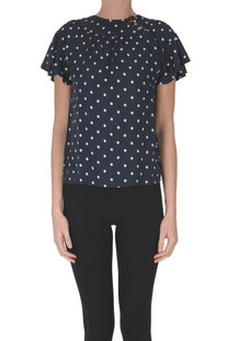 Polka dot viscose blouse Bellerose