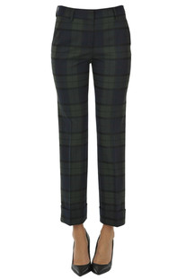 Checked print trousers True Royal