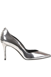 Metallic effect eco-leather pumps Kendall+Kylie