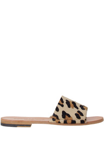 Animal print haircalf slides Punto Pigro