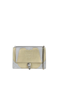 Metallic effect leather bag Orciani