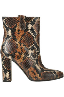 Reptile print leather ankle boots Via Roma 15