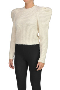 Ribbed knit cropped pullover PHILOSOPHY di Lorenzo Serafini