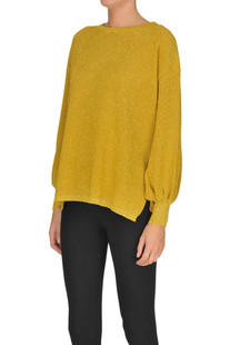 Ribbed knit pullover with lurex Guardaroba