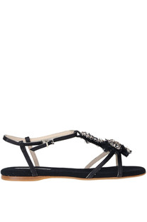 Embellished leather sandals Anna Baiguera
