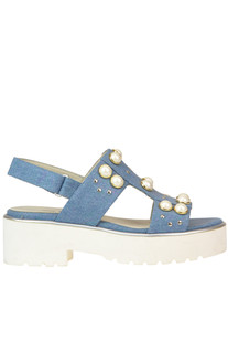 Embellished denim sandals 181
