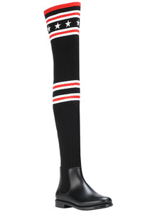 Ribbed knit and rubber over the knee boots Givenchy