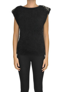 Jewel applications pullover Alberta Ferretti