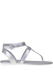 Metallic effect leather sandals Hogan