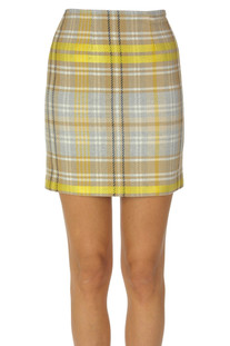 Checked print mini skirt Federica Tosi