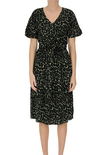 Animal print viscose dress Bellerose