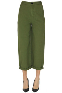 Cropped linen-blend trousers Bellerose