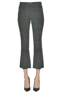 Cropped corduroy trousers Current Elliott