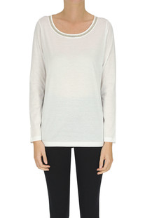 Embellished cotton t-shirt Fabiana Filippi