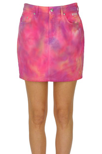 Tie dye denim mini skirt MSGM