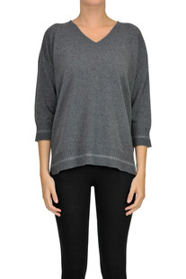 Wool silk and cashmere pullover Anneclaire