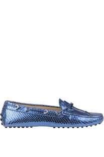 Heaven reptile print leather loafers Tod's