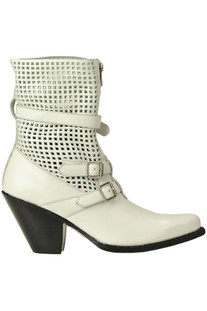 Cut-out leather texan boots Céline