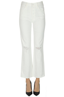 The Tripper cropped jeans Mother