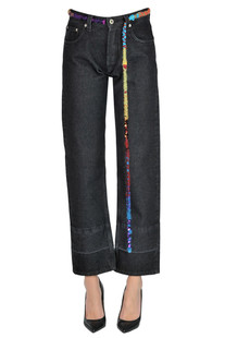 Cropped jeans with waistbelt Loewe