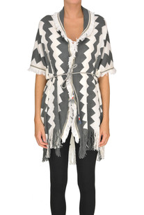 Optical print cardigan Tavus Milano