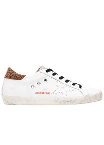 White leopard skate super star sneakers Golden Goose Deluxe Brand