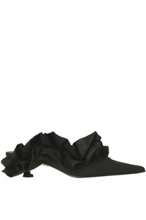 Ruched satin mules MM6 by Maison Margiela