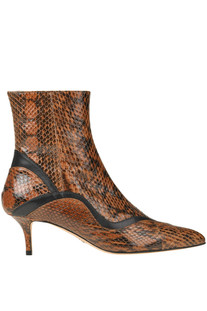 Reptile print leather ankle-boots Paula Cademartori