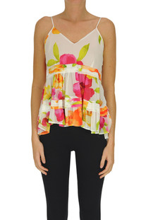 Flower print viscose top Twinset Milano