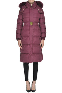 Quilted long down jacket 313 Tre Uno Tre
