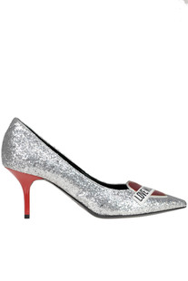 Glittered pumps Love Moschino