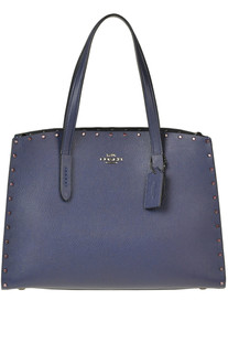 Embellished leather tote bag Coach