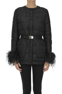 Quilted down jacket Miu Miu