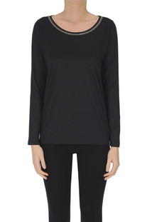 Long sleeves cotton t-shirt Fabiana Filippi