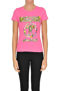 Designer logo cotton t-shirt Moschino Couture