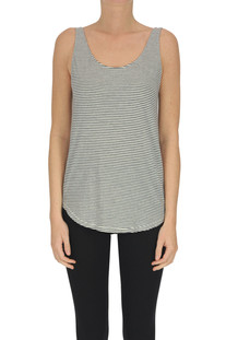 Stripped cotton tank top Closed
