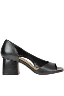 Open-toe leather pumps Salvador Ribes