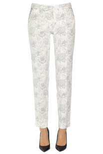 Flower print chino trousers Mason's