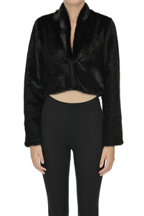 Cropped eco-fur jacket Nualy