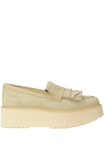 Suede wedge moccassins Hogan