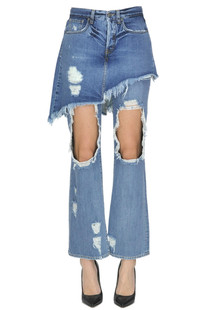 Destroyed jeans Gaelle Paris