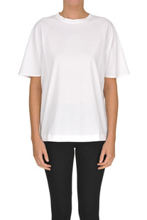 Embellished silk t-shirt Brunello Cucinelli