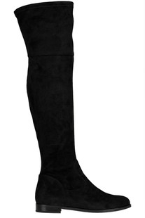 Over the knee suede boots Anna Baiguera