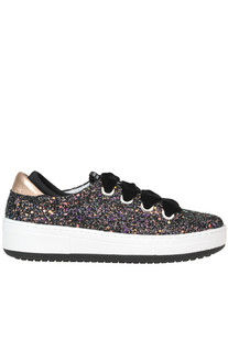 Glittered leather sneakers DOR