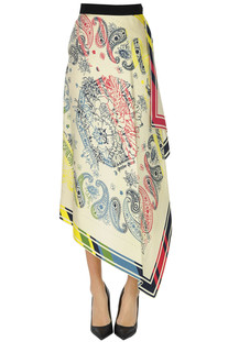 Printed silk skirt Golden Goose Deluxe Brand